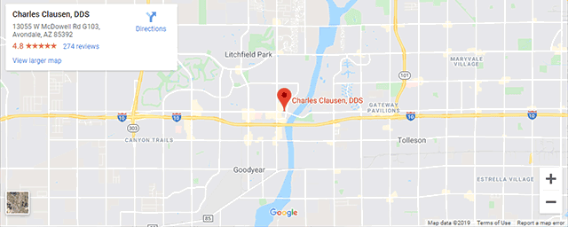 Google map for Charles Clausen, DDS
